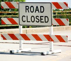 constrution road closed