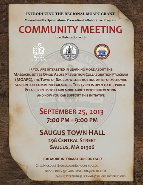 Saugus Community Meeting Sept 25th