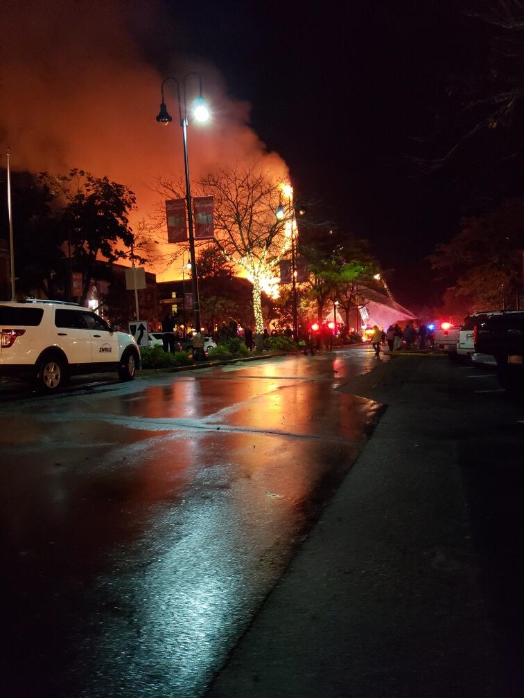 Multiple Alarm Fire First Baptist Church Wakefield